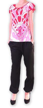 Top pour Femme à manches courtes Original et Coloré Azale Blanc 276810