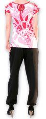 Top pour Femme à manches courtes Original et Coloré Azale Blanc 276812