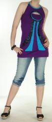 Top pour femme hyper original et ethnique violet Evasio 272238