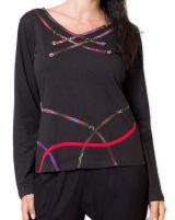 Top pour Femme Original à manches longues Piasina Noir 278937
