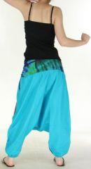Très beau Sarouel femme original et coloré Bleu clair Ubwa 273142