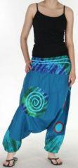 Tr�s beau Sarouel femme original et color� Bleu fon�� Ubwa 273145