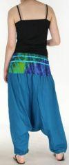 Très beau Sarouel femme original et coloré Bleu fonçé Ubwa 273146