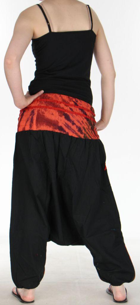 Très beau Sarouel femme original et coloré Noir Ubwa 273150