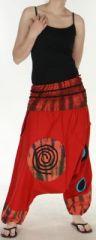 Très beau Sarouel femme original et coloré Rouge Ubwa 273147