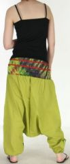 Très beau Sarouel femme original et coloré Vert Anis Ubwa 273144
