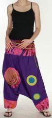 Très beau Sarouel femme original et coloré Violet Ubwa 273151