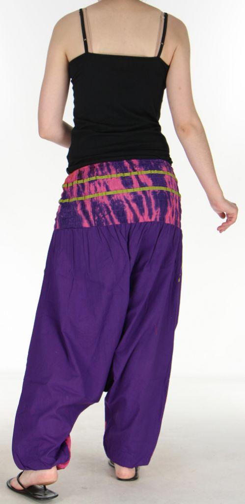 Très beau Sarouel femme original et coloré Violet Ubwa 273152