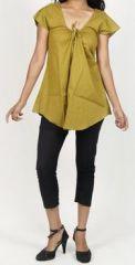 Très belle blouse femme pas chère verte Salsa 272014