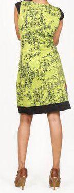 Très jolie robe courte d'été et originale - col V - Anis - Xavia 272062