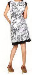 Très jolie robe courte d'été et originale - col V - Blanche - Xavia 272058