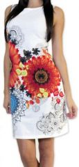 Très jolie robe courte originale et imprimée Blanche Auréllia 273259