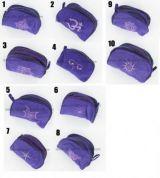 Trousse Coton brod�e Violet 237830