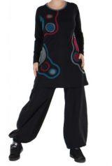 Tunique � manches longues du N�pal lalita noire 265122