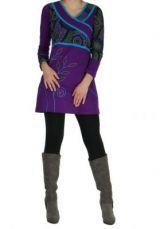 Tunique � manches longues du N�pal shaden violette 265065