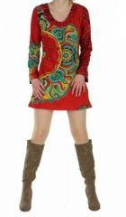 Tunique � manches longues zimav rouge 248776