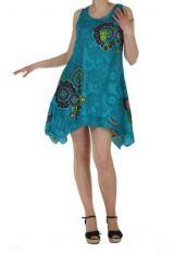 Tunique asym�trique sasha bleue 260757