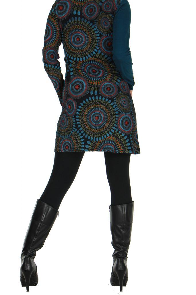 Tunique bleue à manches longues Kamilia 266603