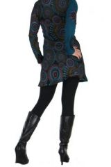 Tunique bleue avec broderie Cécilia 266578