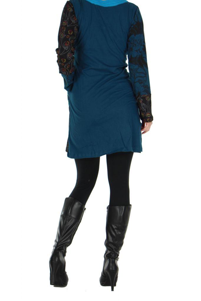 Tunique bleue avec poche Luminia 266607
