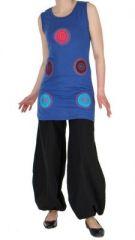 Tunique bleue avec spirales sans manches Charlène 268970