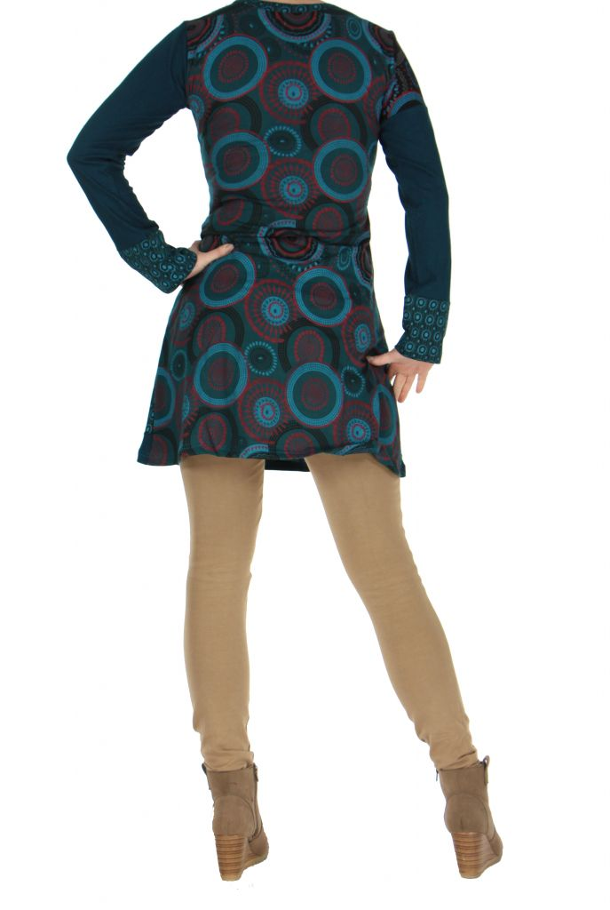 Tunique bleue patchwork Musilia 266712