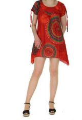 Tunique col rond originale wendy rouge 260773