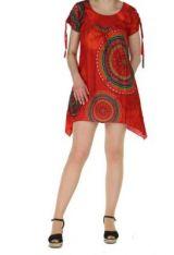 Tunique col rond originale wendy rouge 260773