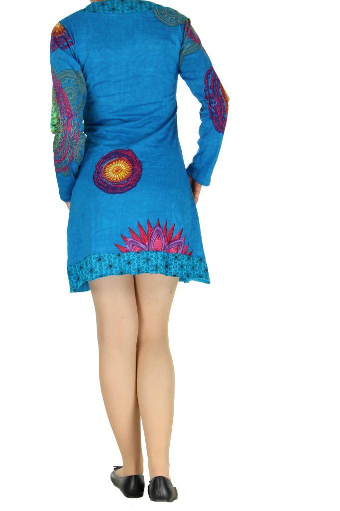 Tunique colorée originale bleue Misna 267302