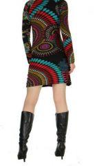 Tunique colorée Valéria noire 267154