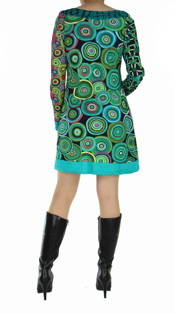 Tunique colorée wandah bleue 266879