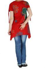Tunique d\'été imprimée rouge Erina