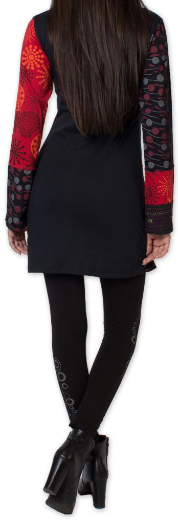 Tunique d'hiver pour Femme Ethnique et Colorée Kapouas Rouge 277567