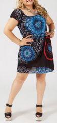 Tunique en coton grande taille noire Holly 269638
