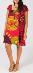Tunique en coton grande taille rouge Horia