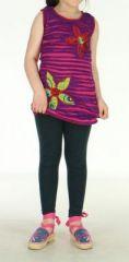 Tunique ethnique été violette et rose pour fille Milana 270810