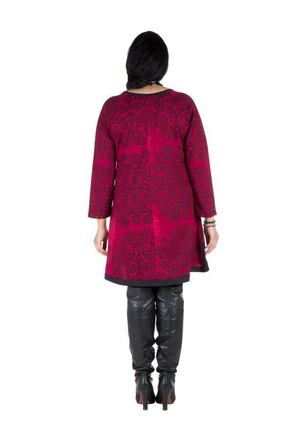 Tunique ethnique rose à manches longues Dipendra 301506