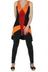 Tunique ethnique spirale swann noire et rouge 261477