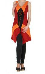 Tunique ethnique spirale swann rouge 261473
