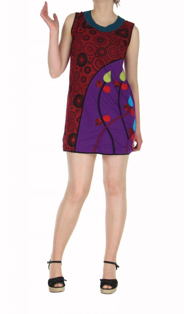 Tunique ethnique violette du Népal Shola 269665