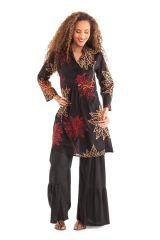 Tunique femme à manches 3/4 ethnique col style indien Bombay 281885