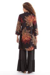 Tunique femme à manches 3/4 ethnique col style indien Bombay 281886