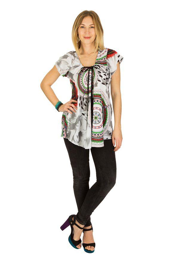 Tunique femme ethnique en coton pour l' été Lucie 289536