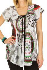 Tunique femme ethnique en coton pour l' été Lucie 292226