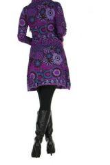 Tunique femme ethnique violette najali 266398