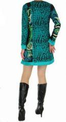Tunique femme imprimée nubik bleue 266880