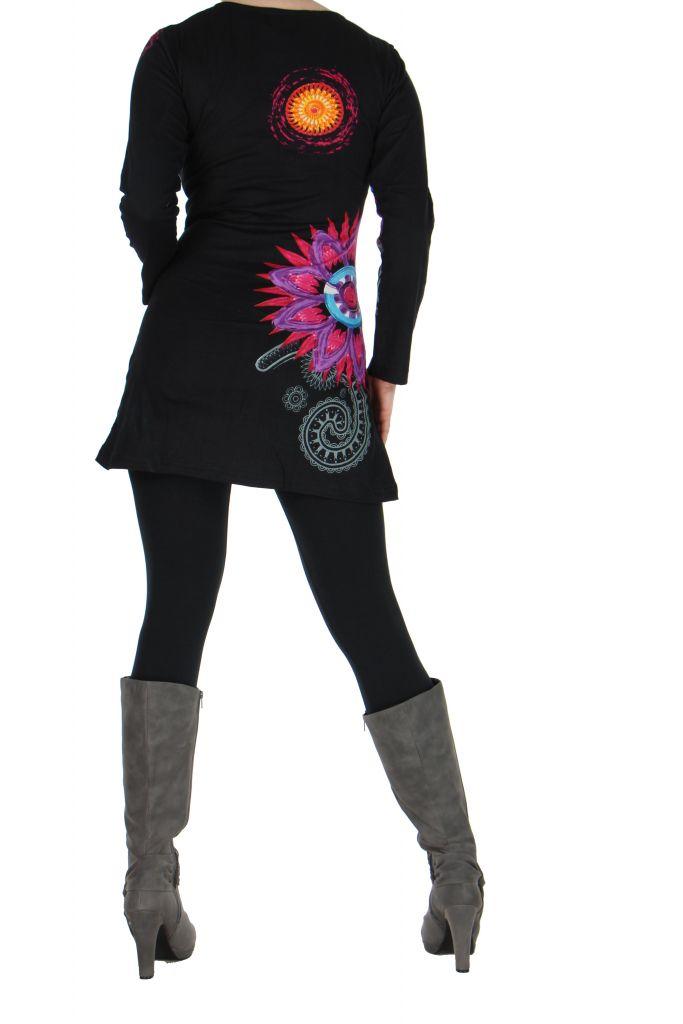 Tunique femme originale noire marlyne 266364
