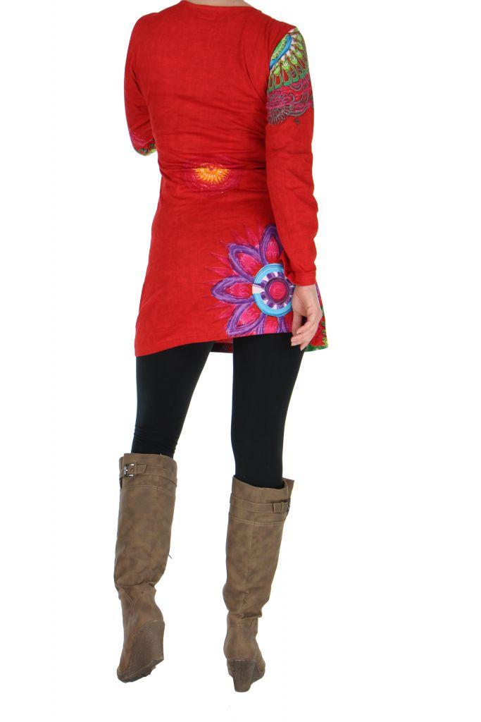 Tunique femme originale rouge marlyne 266362