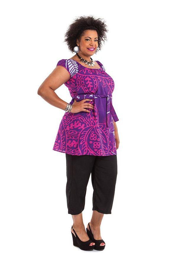 Tunique Grande Taille à ceinture amovible Arlette Violette 284464