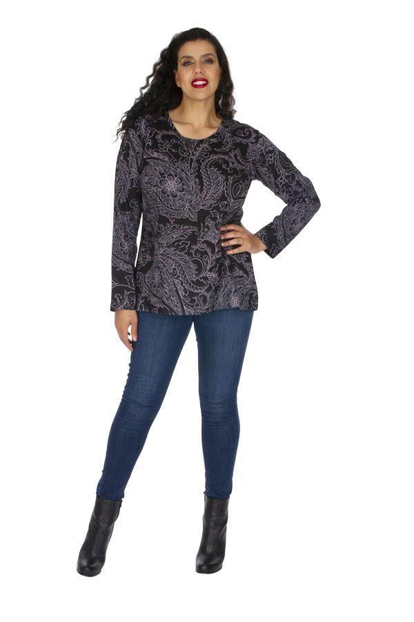 Tunique grande taille femme en coton originale Chamie 313787